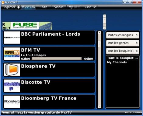 MaxTV Linux