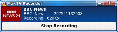 MaxTV Enregistrer Linux